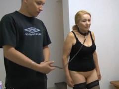 Joven con su esclava madura sexual