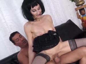 Madura italiana en su primer casting porno